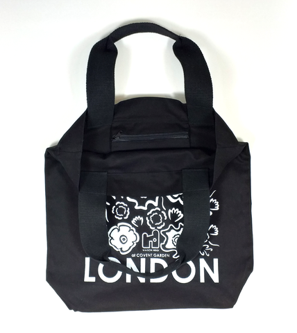 Black London Flower Tote