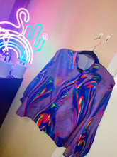 Load image into Gallery viewer, The Shiny Hue neon tie dye blouse