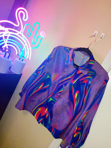 The Shiny Hue neon tie dye blouse