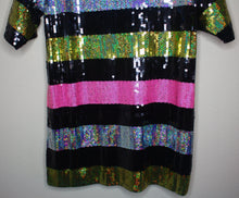 Load image into Gallery viewer, Sequin Shirt Dress
