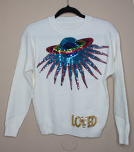 Load image into Gallery viewer, Galaxy Sweater- White