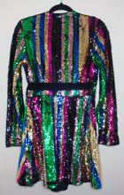 Load image into Gallery viewer, Sequin Wrap Dress
