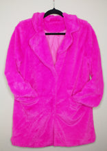 Load image into Gallery viewer, Plush Pink Faux Fur Coat