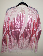 Load image into Gallery viewer, Pink Sheer Sequin Blouse