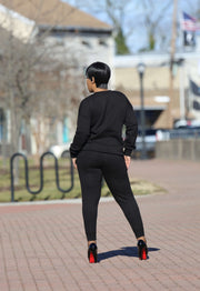 Black Matching Sweatsuit Set