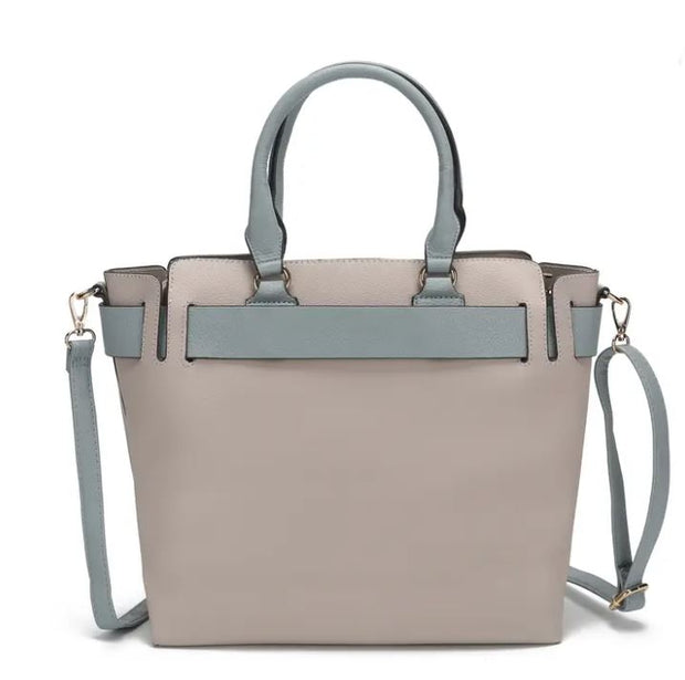 Contrast Satchel Purse