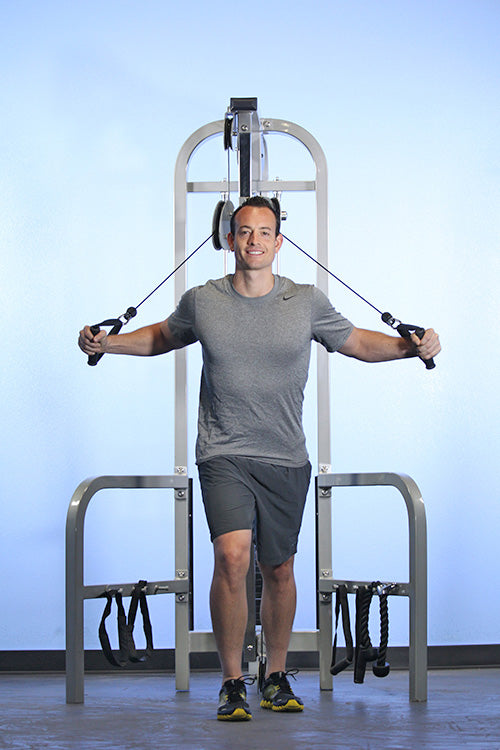 Hi/Lo Pulley Combo Machine - gym-quality fitness equipment from Muscle D Fitness