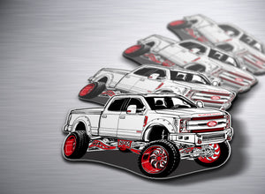 White Knight F250 Sticker