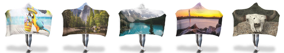 Keep It Under Wraps Hooded Blankets