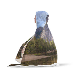 Yosemite Half Dome - Natural Landscapes Hooded Blanket