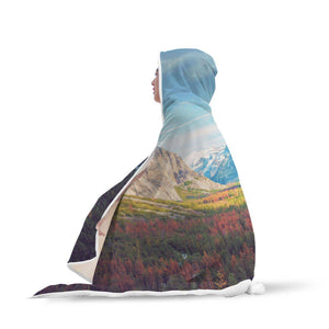 Yosemite Valley Half Dome - Landscapes Hooded Blanket