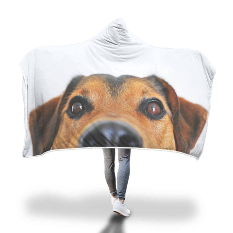 Hi There! - Dog Hooded Blanket  - Hooded Blankets Sherpa Lined Adult Youth Sizes