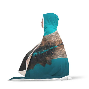Yosemite Valley Merced River - Landscape Hooded Blanket