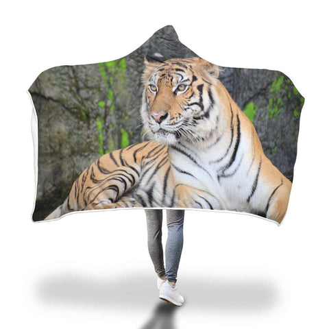 You Talkin To Me? - Big Cat Hooded Blanket  - Hooded Blankets Sherpa Lined Adult Youth Sizes