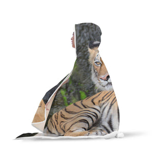 You Talkin To Me? - Big Cat Hooded Blanket