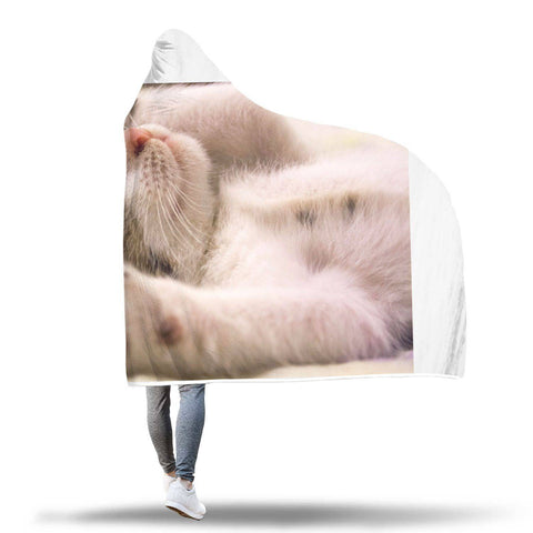Who's So Cute? - Cats Hooded Blankets  - Hooded Blankets Sherpa Lined Adult Youth Sizes