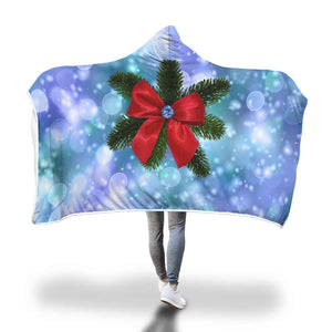 We Need A Little Christmas Now - Hooded Blanket  - Hooded Blankets Sherpa Lined Adult Youth Sizes
