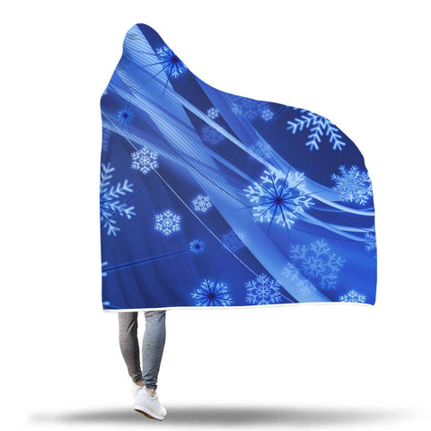 Winter - Hooded Blanket  - Hooded Blankets Sherpa Lined Adult Youth Sizes