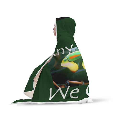 Yes We Can! - Hooded Blanket  - Hooded Blankets Sherpa Lined Adult Youth Sizes