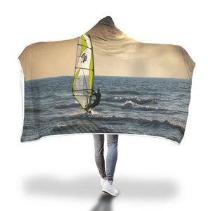 Winds Up! - Hooded Blanket  - Hooded Blankets Sherpa Lined Adult Youth Sizes