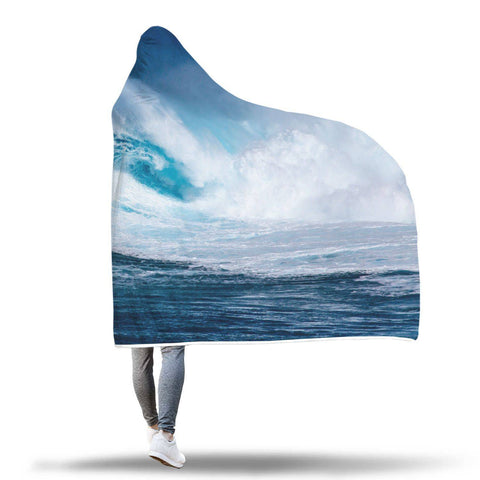 Surfin USA - Hooded Blanket  - Hooded Blankets Sherpa Lined Adult Youth Sizes