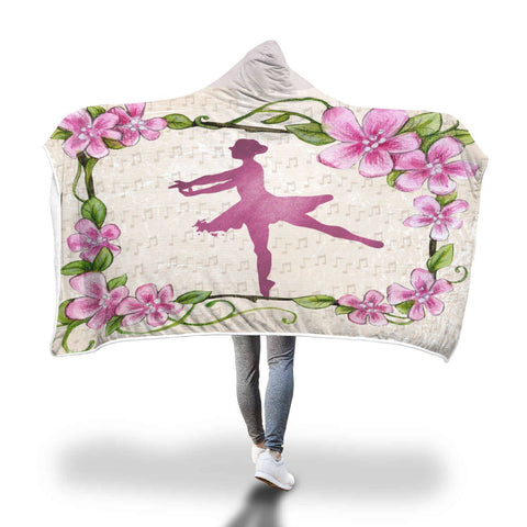 Tiny Dancer - Hooded Blanket  - Hooded Blankets Sherpa Lined Adult Youth Sizes