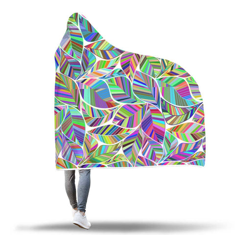 Jungle Leaves - Hooded Blanket