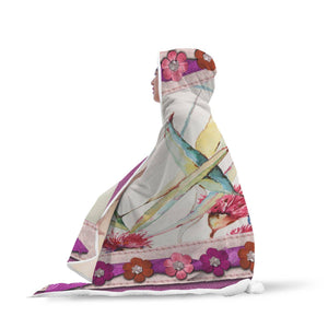 Watercolor Memories - Hooded Blanket
