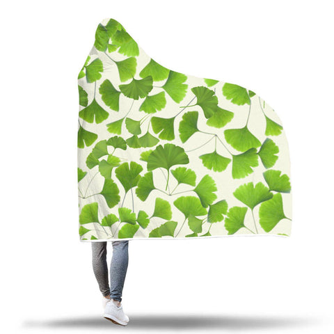Ginkgo Leaves Of Summer - Hooded Blanket