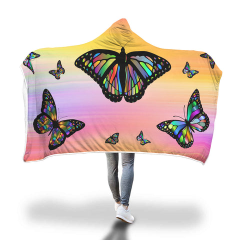 Crystal Butterflies - Hooded Blanket