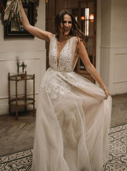 Boho Wedding Dress,Casual Wedding Dress,WD00426
