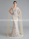 Mermaid Sequined Homecoming Dresses,Formal Evening Dress with Tulle Sleeves,HC00204