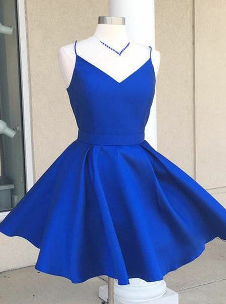 Green Homecoming Dresses,Cocktail Dress with Straps,Homecoming Dress with Pockets,HC00028