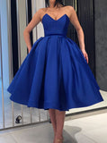 Royal Blue Homecoming Dresses,Knee Length Prom Dress,Ball Gown Homecoming Dress,HC00021