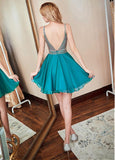 A-line  Homecoming Dress,Sparkly Sweet 16 Dresses,Short Sweet 16 Dress,SW00004