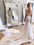Mermaid Wedding Dresses,Off the Shoulder Bridal Dresses,Lace Wedding Dress,WD00307