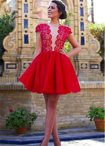 Red Homecoming Dresses,Short Cocktail Dresses,Sexy Homecoming Dress,HC00029