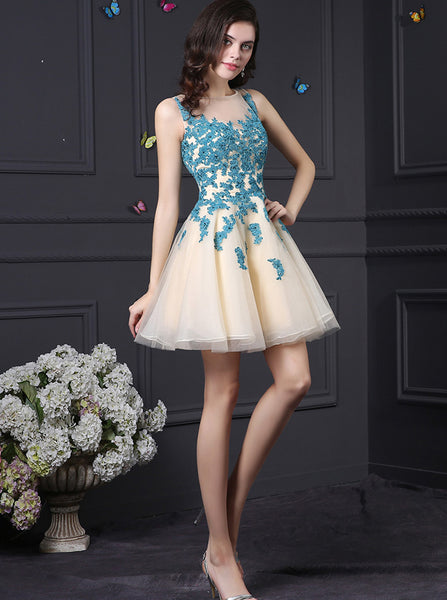 Homecoming Dresses for Teens,Aline Homecoming Dress,Tulle Homecoming Dress,HC00031