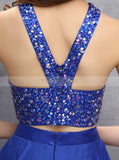 Royal Blue Homecoming Dresses,Two Piece Homecoming Dress,Short Homecoming Dress,HC00109