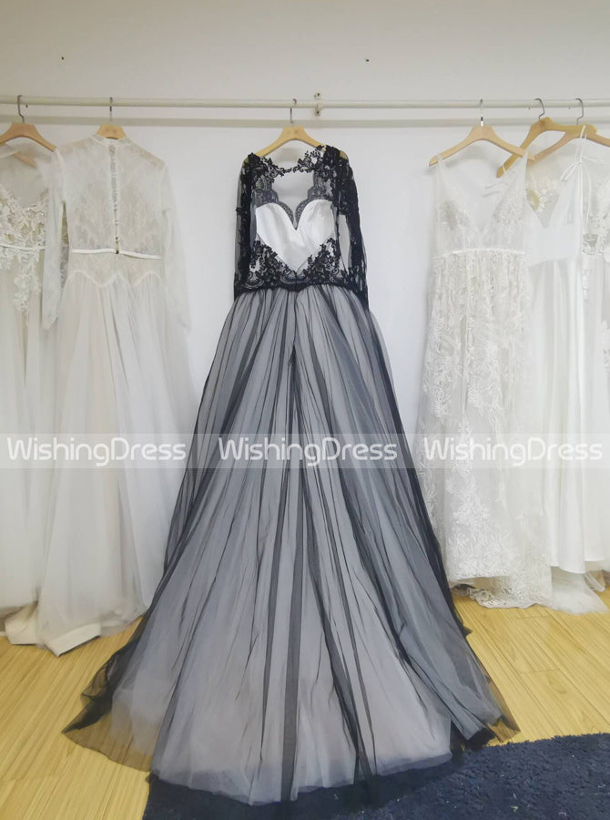 Black Wedding Gown Ball Gown Wedding Dresses Wedding Dress With