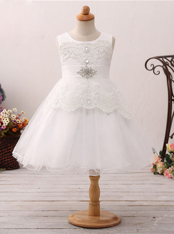 A-line Flower Girl Dresses,Short Flower Girl Dress,Lovely Flower Girl Dress,FD00054