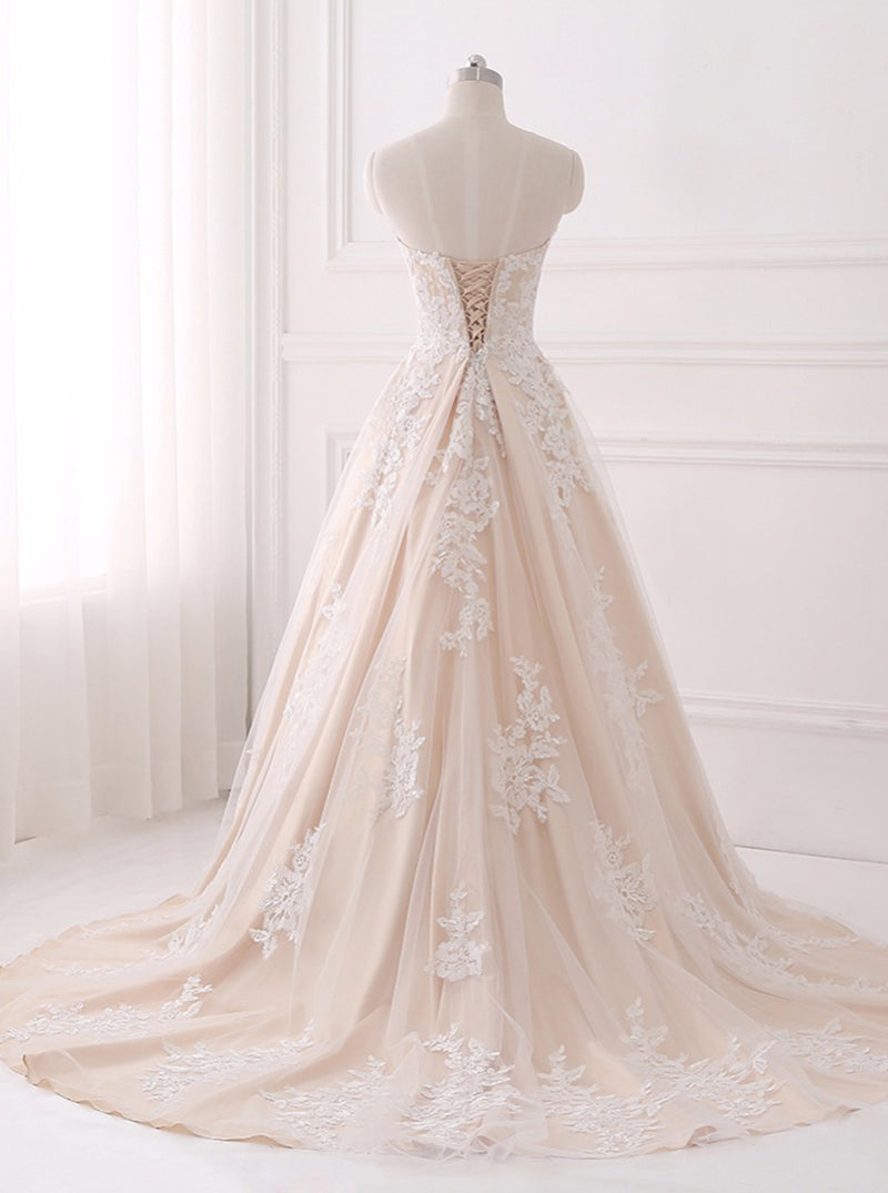 A Line Wedding Dresses Lace Wedding Dress Elegant Bridal