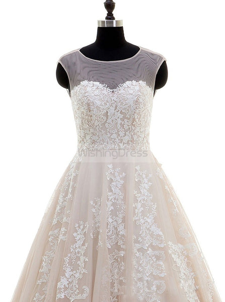 Aline Wedding Dress,Colored Wedding Dress,Tulle Wedding Gown,Princess Bridal Gown,WD00041