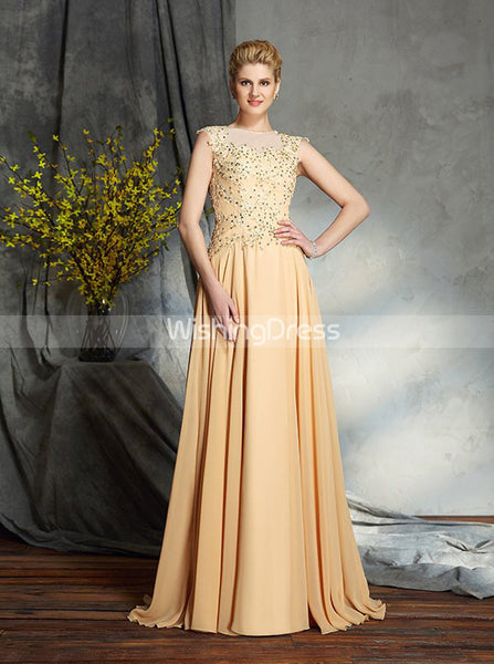 Appliques Mother of the Bride Dresses,Long Chiffon Mother Dress,MD00048