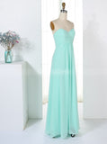 Aqua Bridesmaid Dresses,Empire Waist Bridesmaid Dress,Long Bridesmaid Dress,BD00319