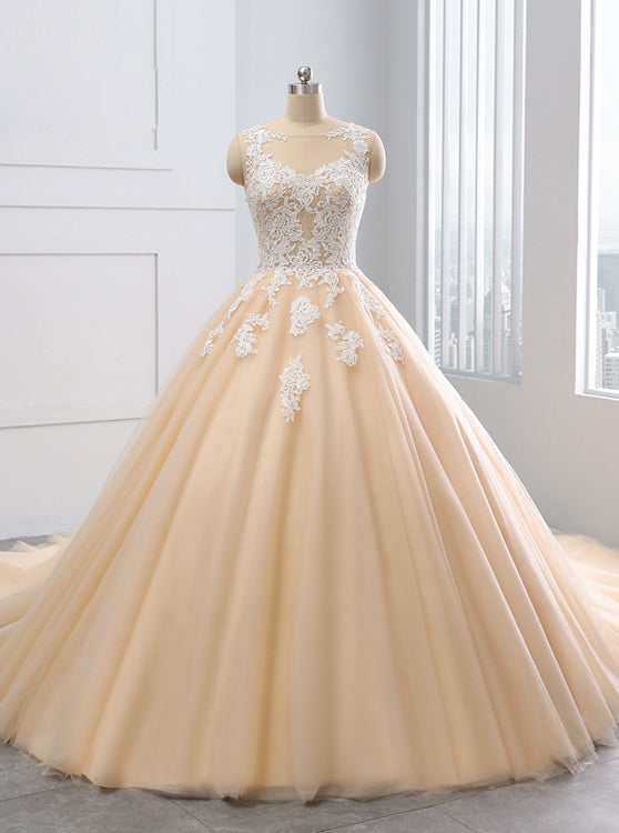 Ball Gown Wedding Dresses Colored Wedding Dress Tulle Ball