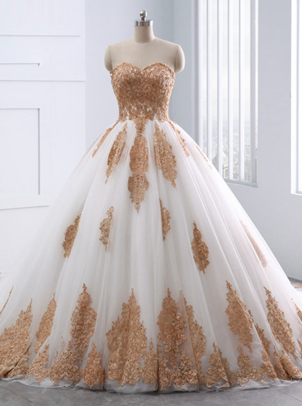 Ball Gown Wedding Dresses Strapless Wedding Dress Unique
