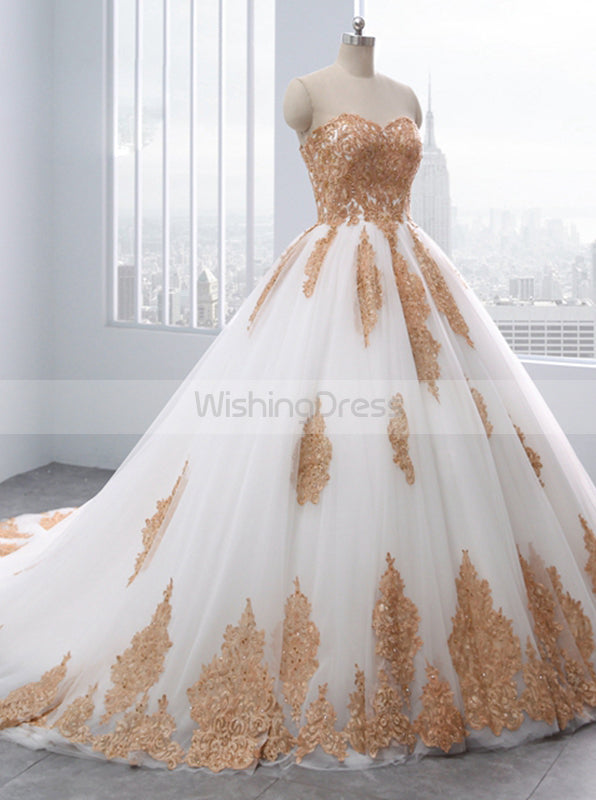 Wedding Dresses With Color.Ball Gown Wedding Dresses Strapless Wedding Dress Unique Bridal Gown Colored Wedding Gown Wd00114