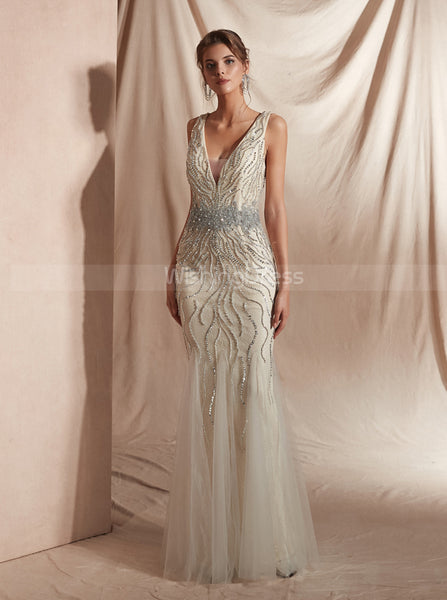 Beaded Evening Dresses,Luxurious Prom Dress,PD00417