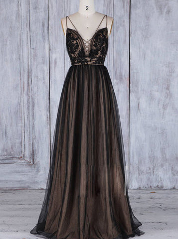 products/black-bridesmaid-dress-tulle-long-bridesmaid-dress-lace-up-bridesmaid-dress-bd00199.jpg